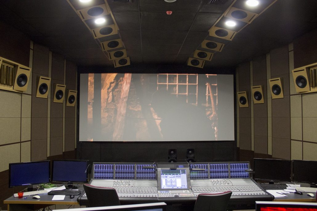 Dolby Atmos Mixing and Colour Grading Stage